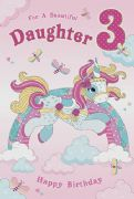 Daughter Age 3 Birthday Card
